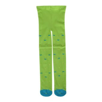 Harga EOZY Baby Kids Cartoon Printing Tights High Elastic Pantyhose Candy Color Girls Dance Apparel (Green) - intl