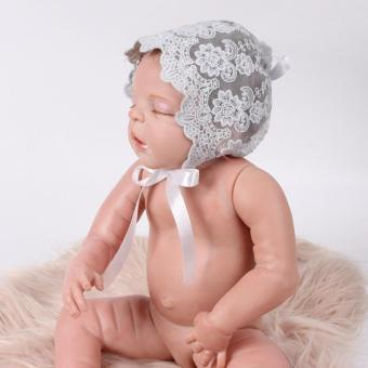 Harga 0-6M Newborn Baby Lace Floral Hat(Grey)