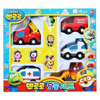 Harga Pororo and Friends 5 Characters Fiugures and 5 Mini Cars Set Kid Girl Boy toy