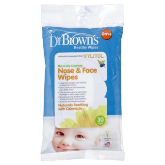 Harga Dr.Brown's Nose & Face Wipes 30s