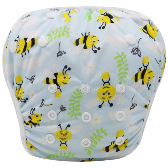 Asenappy Reuseable Washable Baby Cloth Swim Diapers Bees