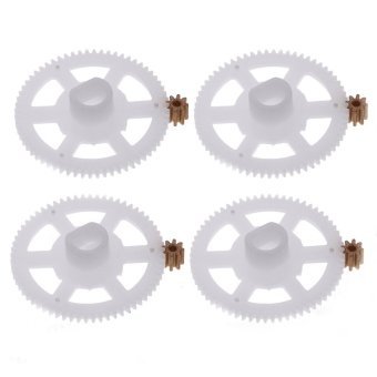 Harga 4pcs Original WLtoys V686G Part V686-11 V686-08 Gear Wheel with 4pcs Copper Gear Set for JJRC/WLtoys V686G RC FPV Quadcopter
