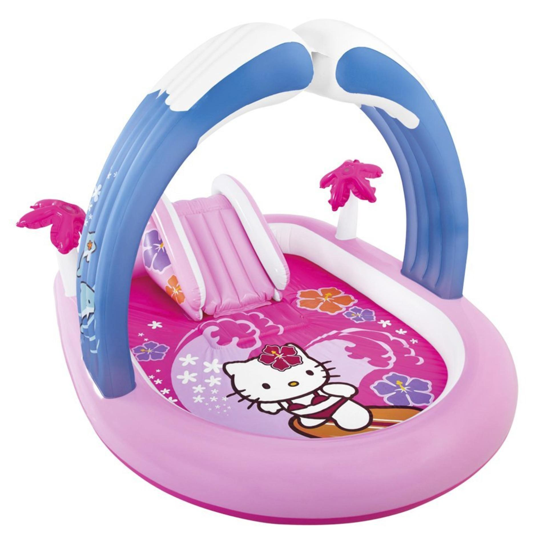 ... Intex Hello Kitty Slide Play Center (Pink) Kolam Renang PerosotanAnak 57137 ...