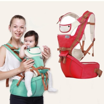 Kangaroo Baby Carrier Hip Seat Breathable summer Hipseat Front Backpacks Baby Canguru Portabebe Multifunction Red - intl