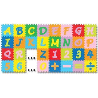 Jual Karpet Evamat Abjad Puzzle Mini  Angka Dan Simbol  Alas Bermain Anak Murah