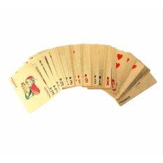 ... Kartu Remi Emas Waterproof Gold Playing Poker Cards
