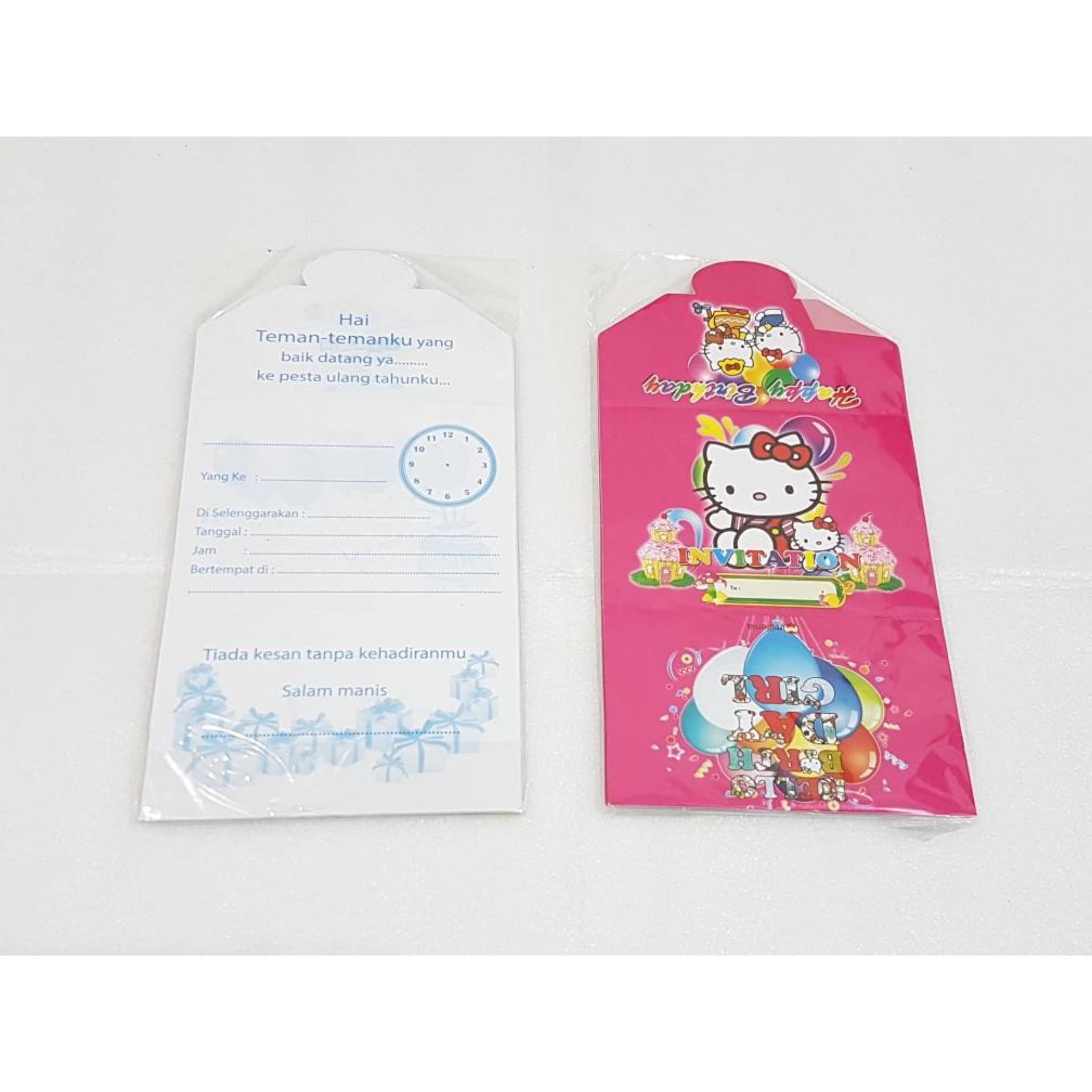 Kartu Undangan Lipat 3 Motif Hello Kitty Part 2 Daftar Harga Kode Blangko 88187 1