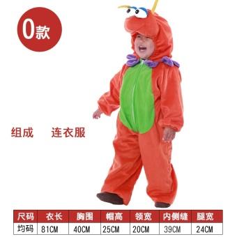 Kartun anak-anak liburan gajah kostum hewan pakaian