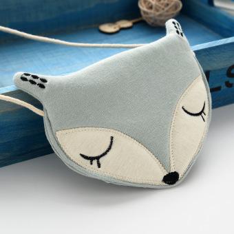 Kartun baru kecil kepala fox tas tas kecil tas