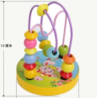 Bandingkan Simpan Kayu mainan pendidikan di sekitar manik-manik di sekitar permainan di sekitar manik