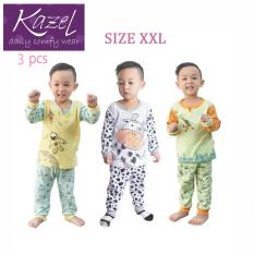 Kazel Piyama Boy Set - Baju Tidur Anak Setelan Isi 3 pcs ( XXL )