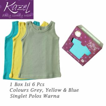 Kazel Singlet Polos Warna Isi 6 Pcs (L)