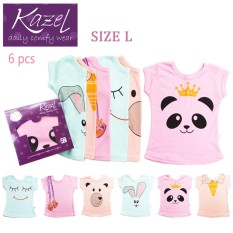 Kazel Tshirt Girl Panda Edition isi 6 pcs - L