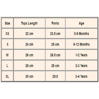 Kids Baby Girl Top T shirt+Floral Suspender Short Pants 3pcs Outfits Set Clothes 0-4Y- intl - 5
