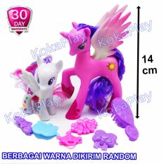 KokaPlay My Lovely Horse 2 in 1 My Little Pony Mainan Kuda Cantik Dandan Cute - Warna dan Model Random