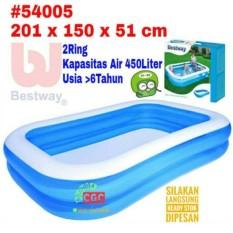 Kolam Renang Bestway 54005 ukuran 2 Meter Biru Putih Bola Mandi Anak