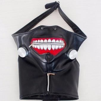 ... Kualitas tinggi Clearance Tokyo Ghoul 2 Kaneki Ken masker Adjustable Zipper masker PU kulit Lucu masker ...