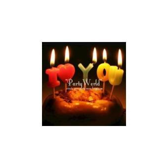 Lilin Kue I Love You. >>>>