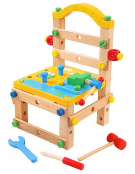 Luban asli kacang pembongkaran kombinasi mainan kursi kursi kursi kursi