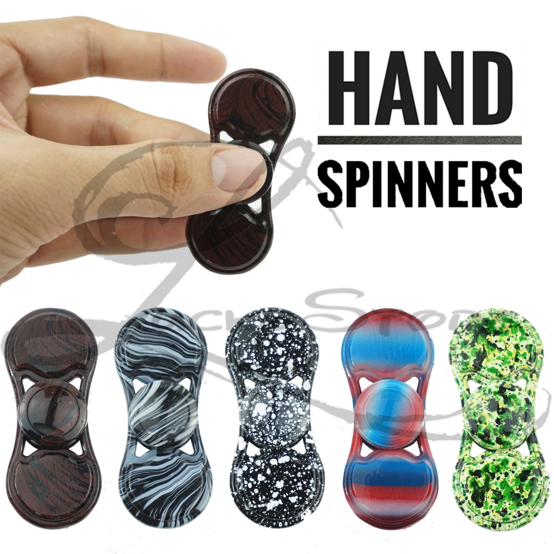 Lucky Hand Fidget Spinner Metalic Motif Spiner Besi Metallic Ceramic Hybrid Hand Toys .