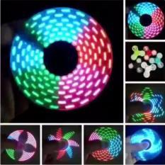 Lucky - LED Glow Nyala Gambar Fidget Spinner Hand Spinner Toys Focus Games Mainan Spiner Tangan Penghilang Kebiasan Buruk - Random - 1 Pcs