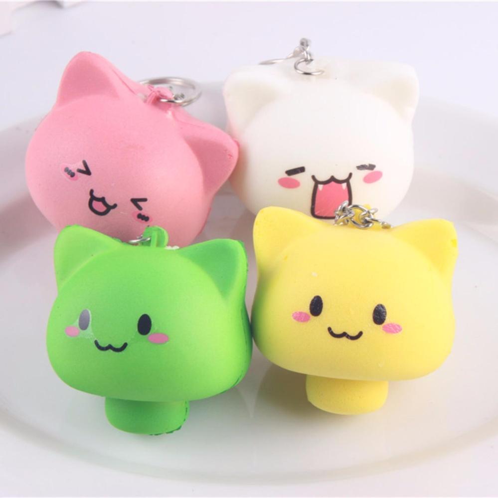 Bandingkan Simpan Lucky Squishy Karakter Kepala Kucing Jamur Random