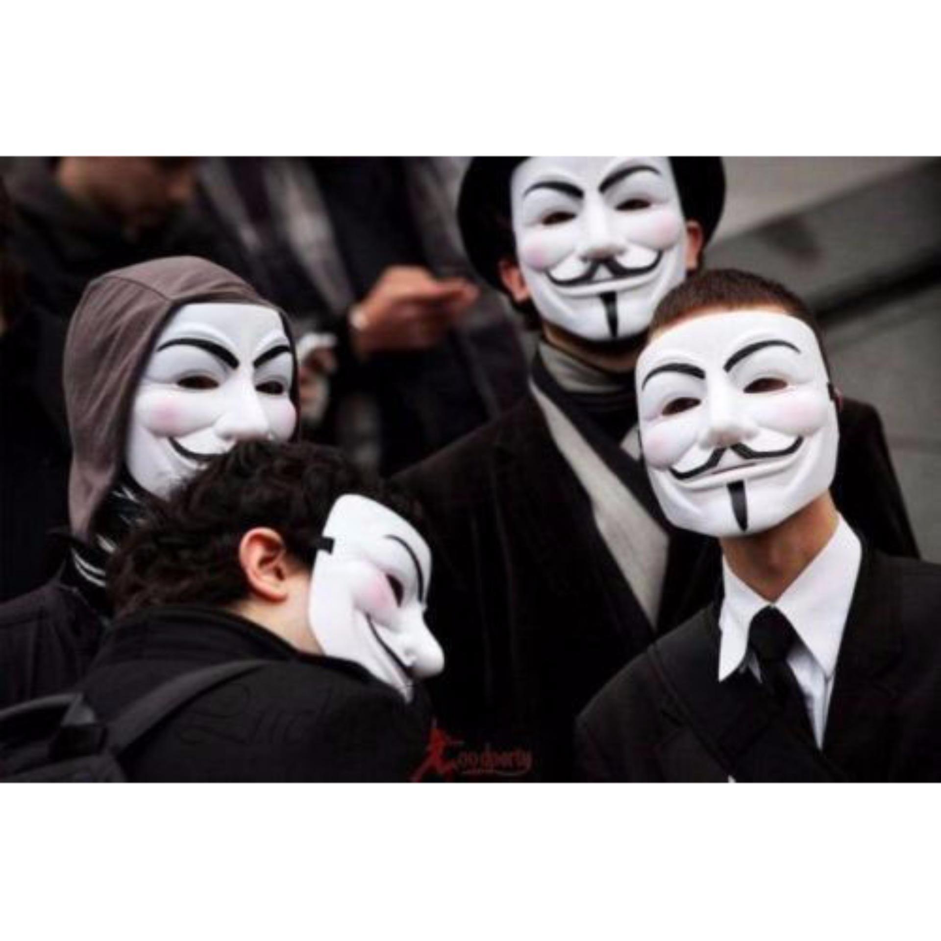 Skytop Topeng Vendetta Mask Occupy Anonymous Cosplay Putih Daftar Source · Lucky Topeng Vendetta Topeng Plastik Tahan Lama Topeng Halloween pesta kostum ...
