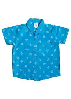 MacBear Baju Kemeja Anak Aerospace Turqoise Green Size 1