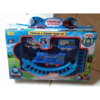 Mainan Anak Kereta Thomas dengan Rel