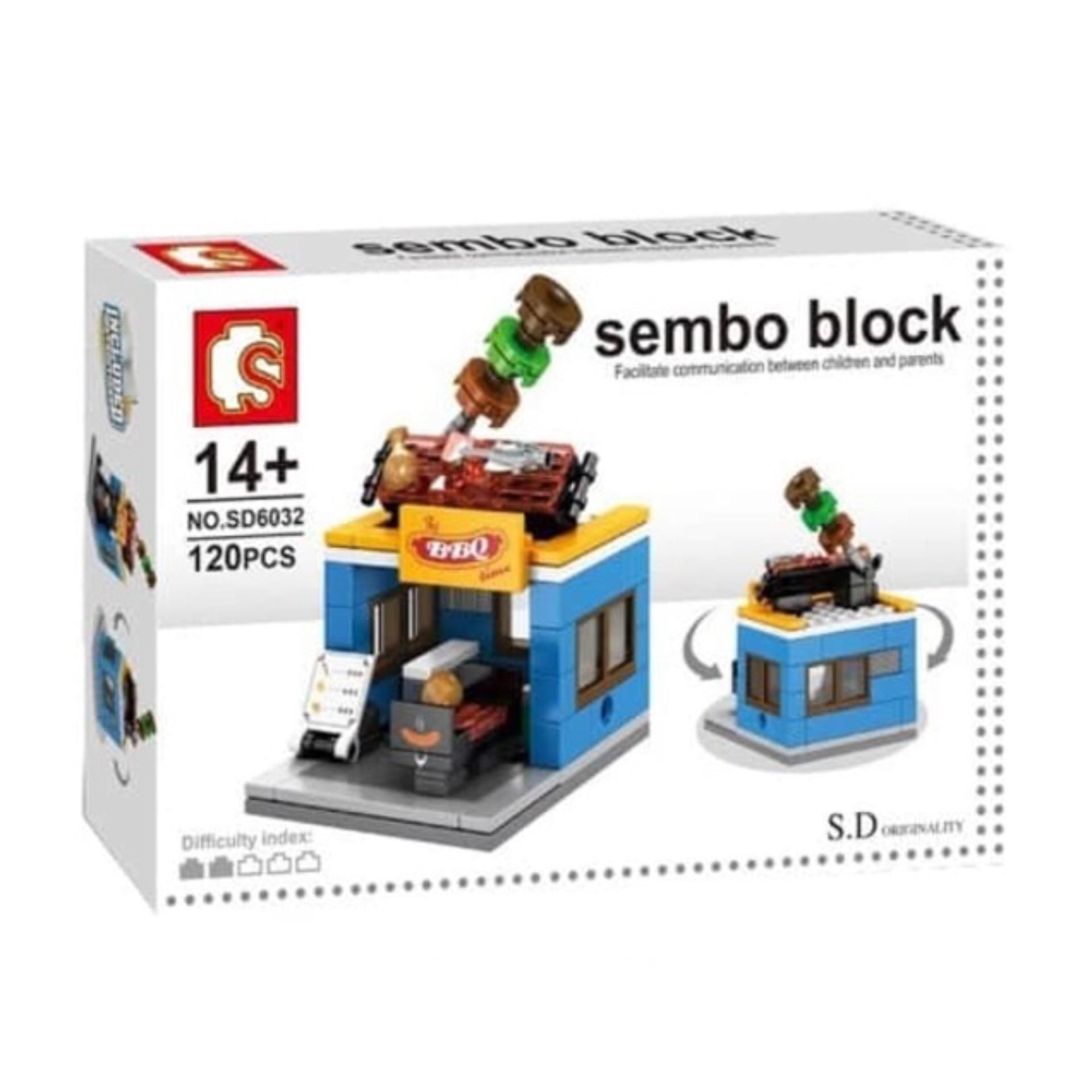 Online murah Mainan Edukasi anak Lego sembo Blocks SD6032 BBQ ... on