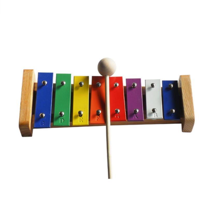Mainan Edukasi Anak Xylophone Kulintang 8 Oktaf Bahan Kayu Multicolor .