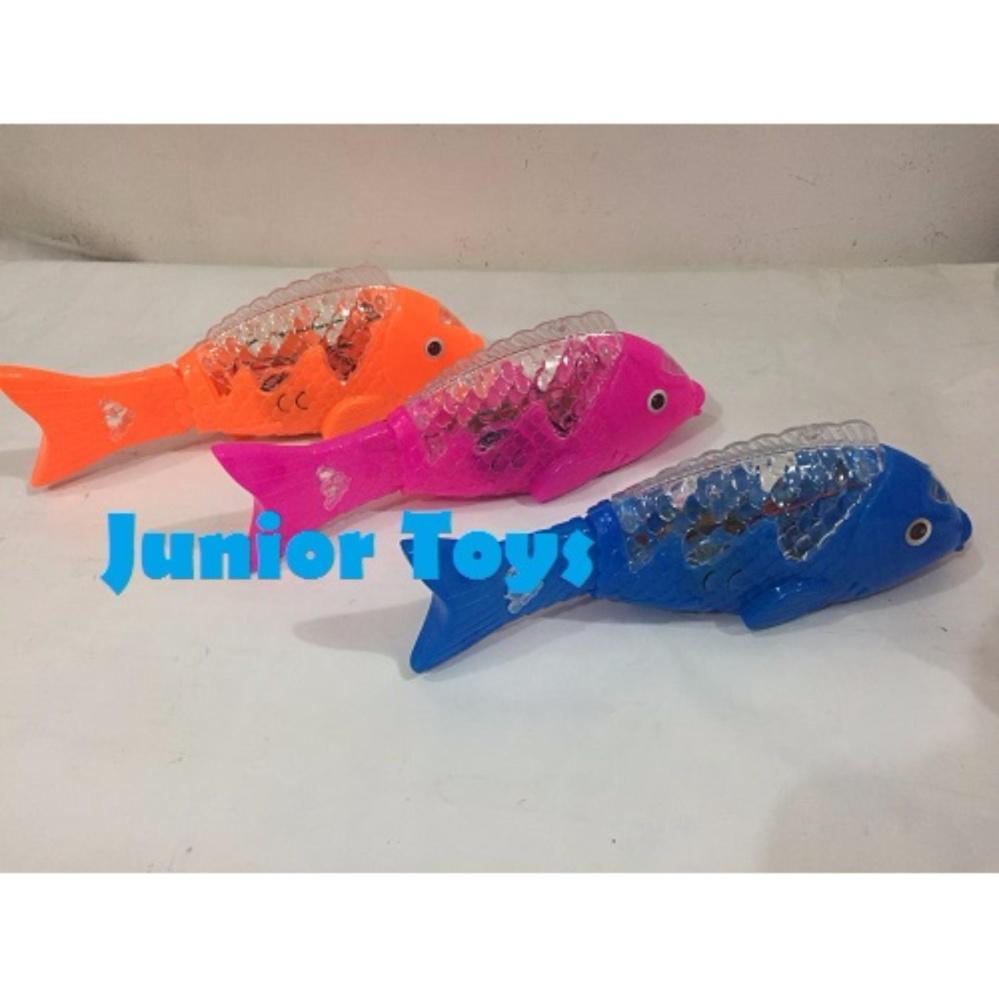 Mainan Ikan Berjalan Lampu dan Suara