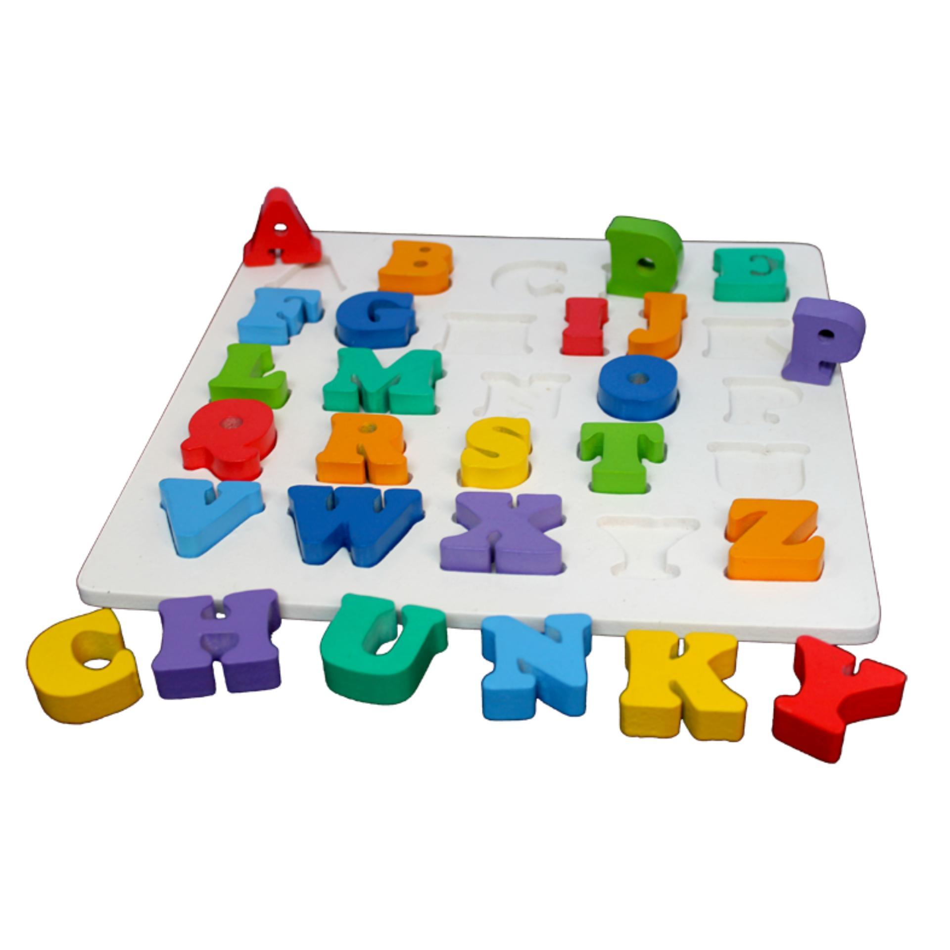 Puzzle Balok Kayu - Chunky Angka Huruf. Source · Mainan .