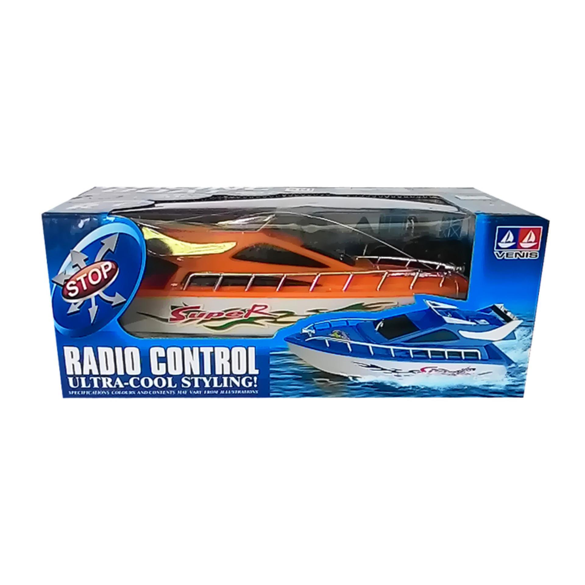 Mainan Rc Kapal Boat - Orange .