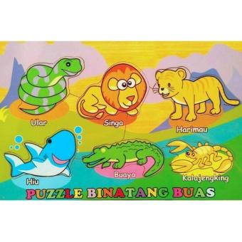 Malva Kayla Toys Puzle Kayu Binatang Buas