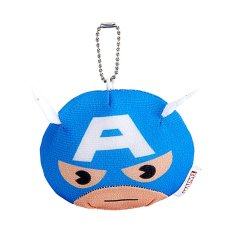 Marvel Head Plush Marvel Captain America 4.5 inch - Biru