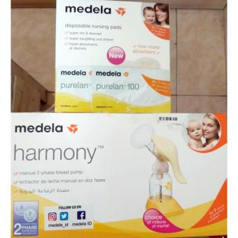 Medela New Harmony Breast Pump / Pompa Asi Manual(Free krim anti iritasi+30pcs Pad)