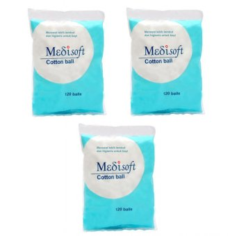 Medisoft Cotton Ball / Kapas Bola - 3packs