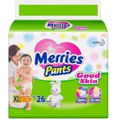 Merries Pants Good Skin Popok Bayi Dan Anak Unisex Diapers TIpe Celana Size XL - 26