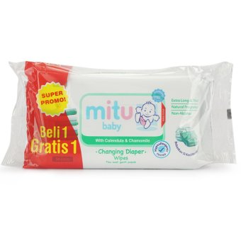 Mitu Baby Tissue basah with changing diaper wipes 50s buy 1 get 1 -MTB001