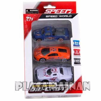 MOMO Toys Die Cast Speed Super World 3 Pcs - Mobil Sport Mainan