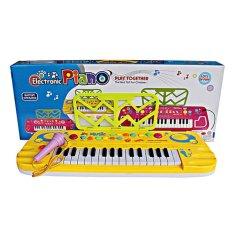 MOMO Toys Electronic Piano Organ 3202 - Mainan Piano Kuning