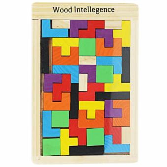 MOMO Toys Wood Intellegence Ages 3+ - Mainan Edukasi Russian Block Kayu