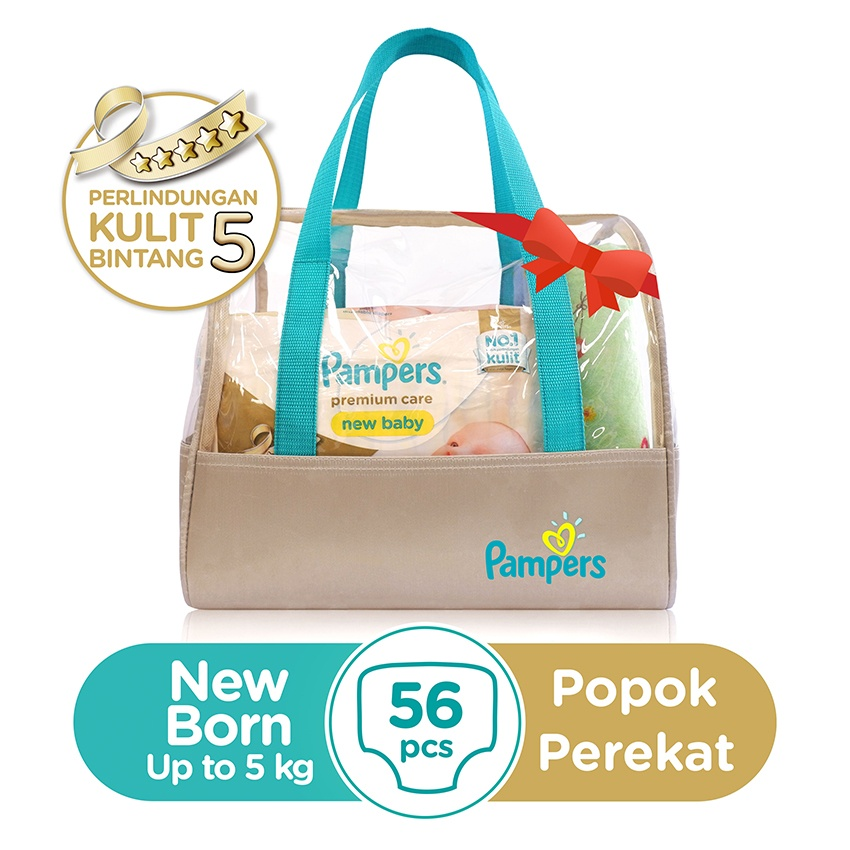 New Born Gift Set) Pampers Popok Perekat NB 2x28 Premium Care ...