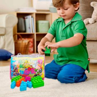 Ocean Toy Creatif Block Tas Isi 163 Pcs Mainan Edukasi Anak OCT9209 - Multicolor