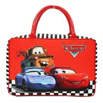 Onlan Travel Bag Cars Red Bahan Kanvas Halus Import - 3