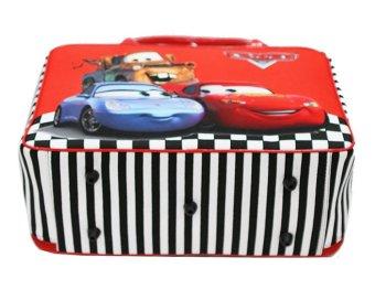 Onlan Travel Bag Cars Red Bahan Kanvas Halus Import - 5
