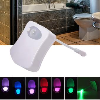 Otomatis Sensor Gerak Tubuh LED Cahaya Malam Kamar Mandi ToiletMangkuk Lampu AH192