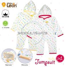 Pakaian Bayi 2 in 1 Baby Leon / Baju Bayi Full Body NEW BORN 100% catton Jumper / Baju Tidur anak / Baju tidur bayi / Body suit BC-021 / Kaki Buka RANDOM MOTIF