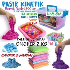 Paket Pasir Kinetik 2 KG + 43 Pcs Aksesoris - Kinetic Play Sand Mainan Edukasi